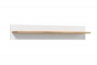 Komplet mebli do salonu Brillo Dąb Ribeck/Biały mat półka wisząca