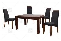 Komplet stół Omar + 4 szt. krzesło Arte - Wyprzedaż  komplet mebli jadalnianych
