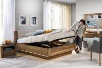 Zestaw mebli do sypialni Velvet VII - dąb rustical meble do sypialni - łoże sypialniane