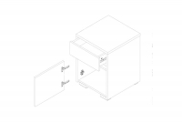 Kontenerek Alaska AAN-1 Biały połysk / Biały mat