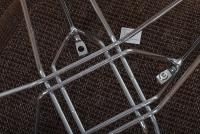 Krzesło Bono II - Brązowy - Wyprzedaż  chromowany stelaż