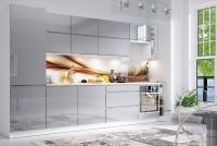 Kuchyňa Aspen Šedý lesk - 340cm - Komplet nábytku kuchennych