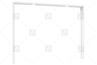 Listwa okalająca DMRZ01B Z38 z oświetleniem  listwa biała