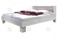 Łoże 160/200 + 2 stoliki nocne Vera 51 Arctic pine jasny/Arctic pine ciemny łóżko szare