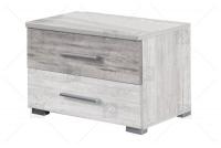 Łoże 160/200 + 2 stoliki nocne Vera 51 Arctic pine jasny/Arctic pine ciemny szafka nocna z uchwytami