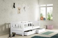 Łóżko dziecięce Antek parterowe DP 002 Certyfikat łóżeczka dla przedszkolaka