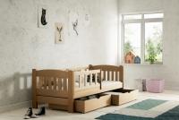Łóżko dziecięce Antek parterowe DP 002 Certyfikat łóżko z szufladami