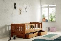 Łóżko dziecięce Antek parterowe DP 002 Certyfikat łóżko z wysoką barierką