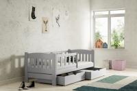 Łóżko dziecięce Antek parterowe DP 002 Certyfikat łóżko dla dziewczynki