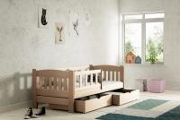 Łóżko dziecięce Antek parterowe DP 002 Certyfikat łóżko z barierkami