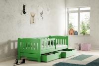 Łóżko dziecięce Antek parterowe DP 002 Certyfikat łóżko drewniane z certyfikatem