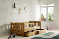 Łóżko dziecięce Antek parterowe DP 002 Certyfikat łóżko w kolorze dębu