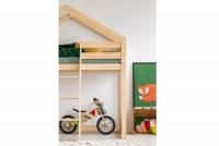 Łóżko antresola domek z drabinką na środku Basia  domek antresola drewno