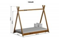 Łóżko dziecięce drewniane Tipi