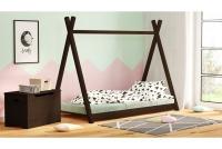 Łóżko dziecięce drewniane Tipi łózko ciemne