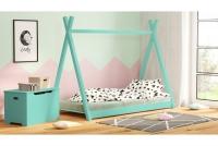 Łóżko dziecięce drewniane Tipi łóżeczko miętowe