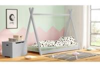 Łóżko dziecięce drewniane Tipi łózko popielate