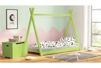 Łóżko dziecięce drewniane Tipi łóżeczko zielone