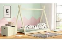 Łóżko dziecięce drewniane Tipi łóżeczko jasne