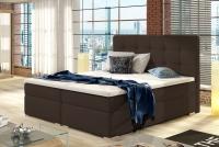 Łóżko kontynentalne Inez 160x200 brązowe łóżko