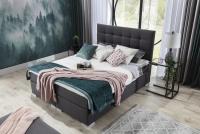 Łóżko kontynentalne Inez 160x200 pikowane wezgłowie