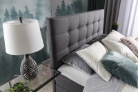 Łóżko kontynentalne Inez 160x200 wysokie pwezgłowie z przeszyciami