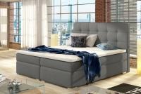 Łóżko kontynentalne Inez 160x200 szare łóżko z pikowaniem