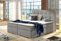 Łóżko kontynentalne Inez 160x200 szara sypialnia