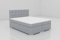 Łóżko kontynentalne Inter 160x200 szare łóżko