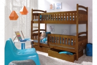 Łóżko piętrowe Ania II 90 x 200 Certyfikat łóżko piętrowe z szufladami dąb