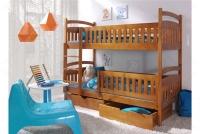 Łóżko piętrowe Ania II 90 x 200 Certyfikat łóżko piętrowe z szufladami olcha