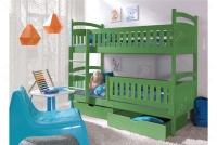 Łóżko piętrowe Ania II 90 x 200 Certyfikat łóżko piętrowe z szufladami zielony