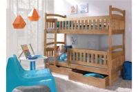 Łóżko piętrowe Ania II 90 x 200 Certyfikat łóżko piętrowe z szufladami buk
