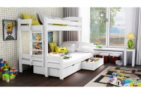 Poschodová posteľ Bruno PPS 001 90 x 200 Certifikát Posteľ dla rodzenstwa