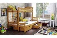 Poschodová posteľ Bruno PPS 001 90 x 200 Certifikát lozko w farbe debu