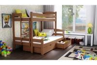 Poschodová posteľ Bruno PPS 001 90 x 200 Certifikát Posteľ drewniane