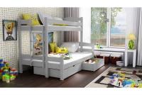 Poschodová posteľ Bruno PPS 001 90 x 200 Certifikát Posteľ drewniane poschodová