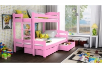 Poschodová posteľ Bruno PPS 001 90 x 200 Certifikát Posteľ dla dziewczynek