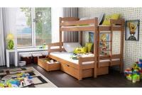 Poschodová posteľ Bruno PPS 001 90 x 200 Certifikát Posteľ z drabinka i barierkami