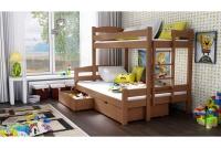 Poschodová posteľ Bruno PPS 001 90 x 200 Certifikát Posteľ z barierkami i drabinka