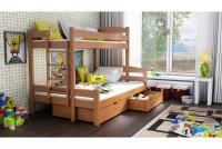 Poschodová posteľ Bruno PPS 001 90 x 200 Certifikát Posteľ poschodová trojosobové bruno