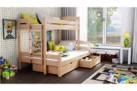 Poschodová posteľ Bruno PPS 001 90 x 200 Certifikát Posteľ trojosobové