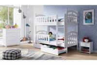 Łóżko piętrowe drewniane 2 osobowe Nati łóżko pitrowe z możliowścią rozłożenia