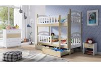 Łóżko piętrowe drewniane 2 osobowe Nati łóżko dziecięce z certyfikatem jakości