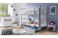 Łóżko piętrowe drewniane 2 osobowe Nati łóżko piętrowe rozkładane