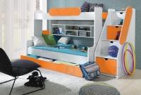 Łóżko piętrowe Segan łózko z półkami