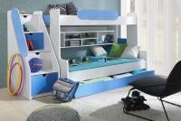 Łóżko piętrowe Segan łózko ze schodkami