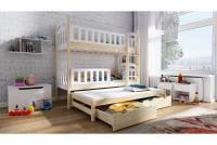 Łóżko piętrowe wysuwane 3 osobowe Nati łóżko dziecięce 3 osobowe