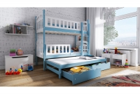 Łóżko piętrowe wysuwane 3 osobowe Nati łóżko z drabinką