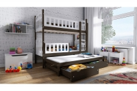 Łóżko piętrowe wysuwane 3 osobowe Nati łóżko piętrowe rtozkładane